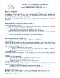 Plaquette information – BALINZAT