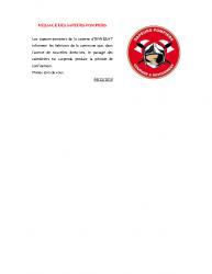MESSAGE DES SAPEURS-POMPIERS