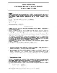 REUNION CONSEIL MUNICIPAL 6 OCTOBRE 2020