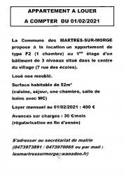 ANNONCE APPARTEMENT LOCATION