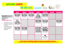 CLIC – Ateliers en un clic – confinement – programme 5