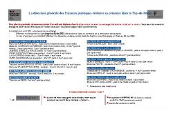IMPOTS SUR LE REVENU – POINTS D'ACCUEIL