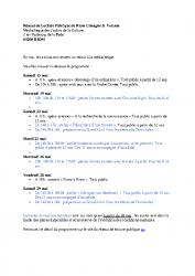 RLV – Animations mai – Réseau de Lecture Publique