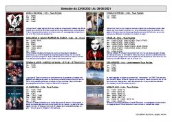ARCADIA RIOM – Programme du 23 au 29 juin 2021