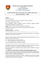 CONSEIL MUNICIPAL -REUNION 3 JUIN 2021