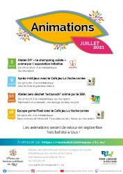 RLV Réseau bibliothèque – AGENDA JUILLET 2021