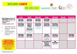 CLIC programme ateliers