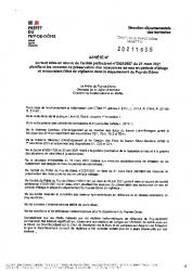 PREFECTURE ARRETE 6 SEPTEMBRE 2021
