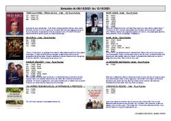 Programme Ciné Arcadia Riom semaine du 06 au 12 oct 2021